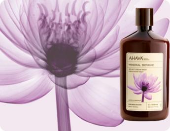 mineral botanic cream wash lotus